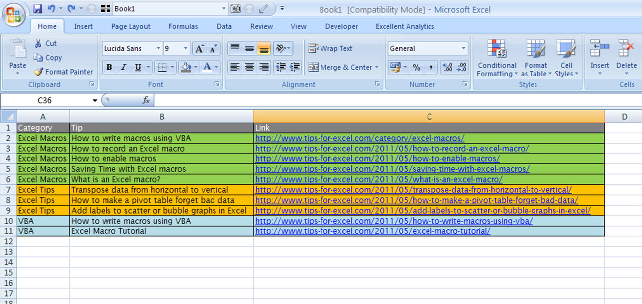 how to write excel macros